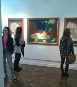 Visitors to 'Soul in Search of a Canvas' Exhibition